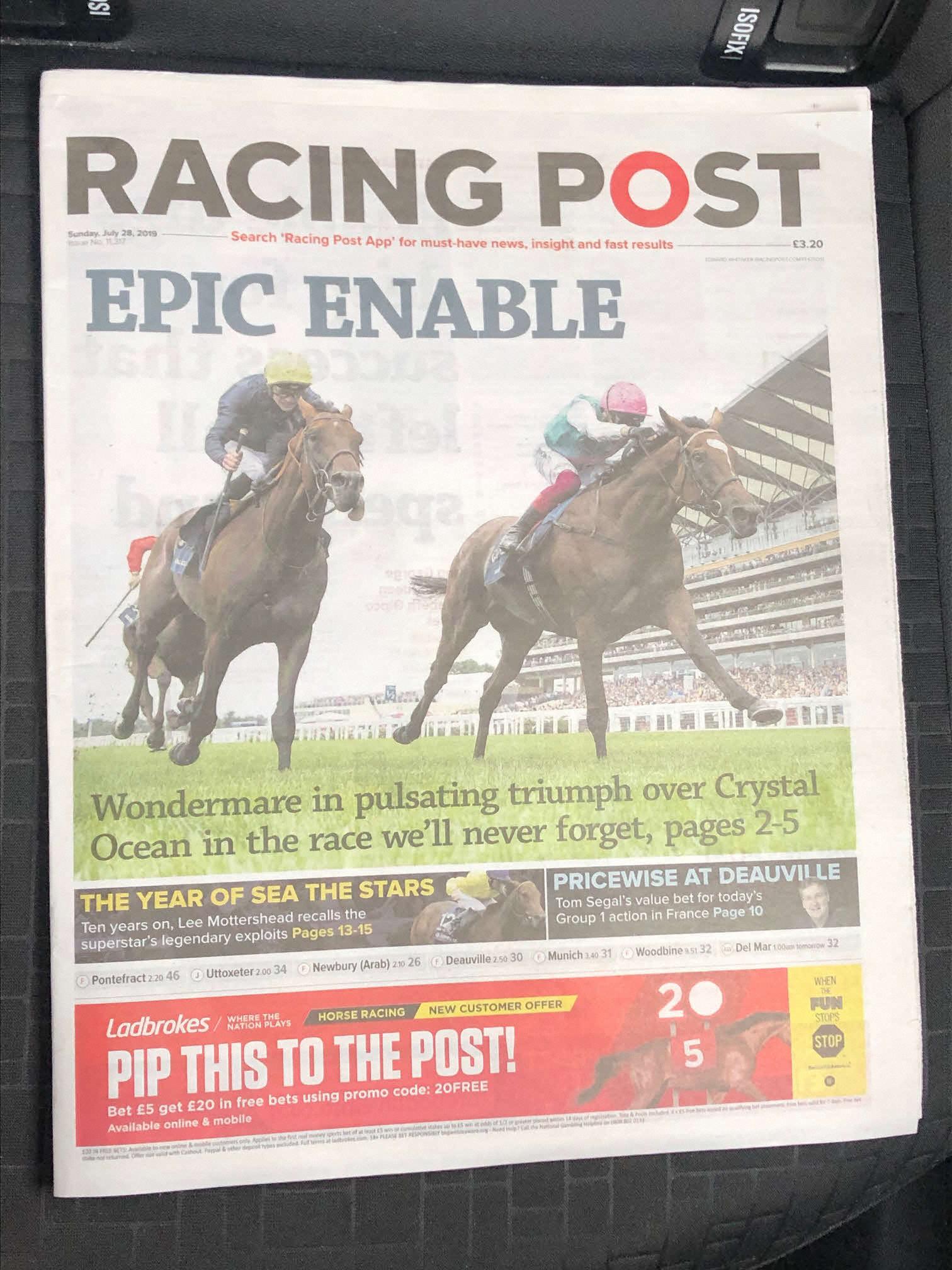 英国の競馬新聞「レーシングポスト」が一時休刊へ|極ウマ・プレミアム